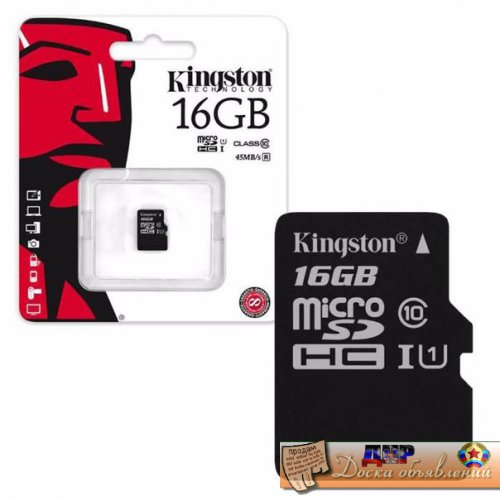 MicroSD Kingston 16Gb Class 10
